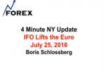 4 Minute NY Update IFO Lifts the Euro July 25, 2016