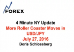 4 Minute NY Update More Roller Coaster Moves in USD/JPY July 27, 2016
