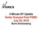 4 Minute NY Update Dollar Dumped Post FOMC July 28, 2016