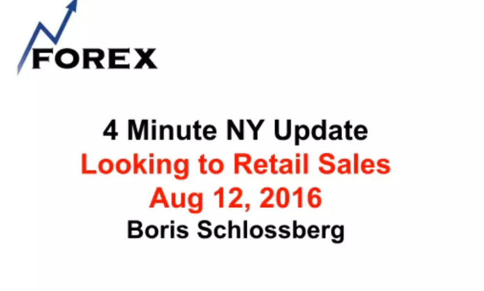 4 Minute NY Update Looking to Retail Sales  Aug 12, 2016