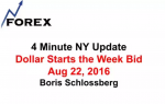 4 Minute NY Update Dollar Starts the Week Bid  Aug 22, 2016