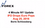 4 Minute NY Update IFO Drops Euro Pops Aug 25, 2016
